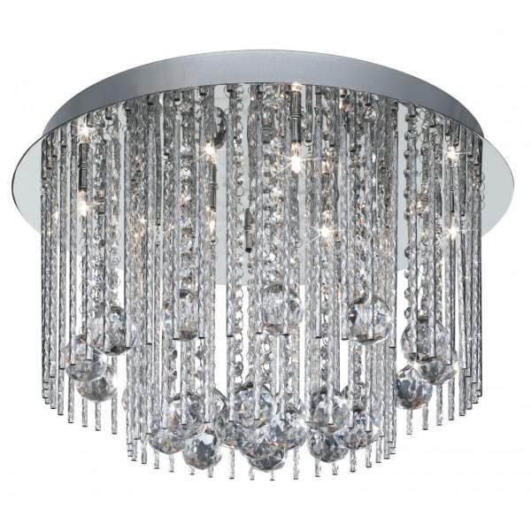 Beatrix Chrome Eight Light chandelier