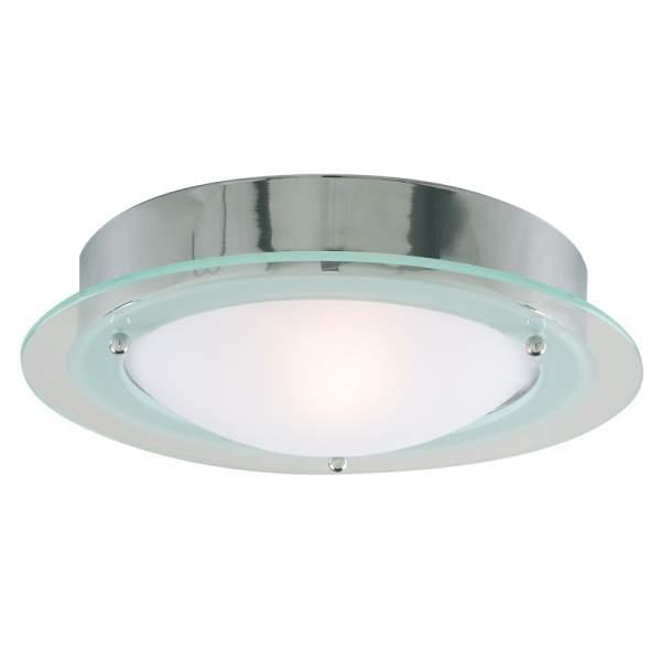 Opal Glass Flush Bathroom Light