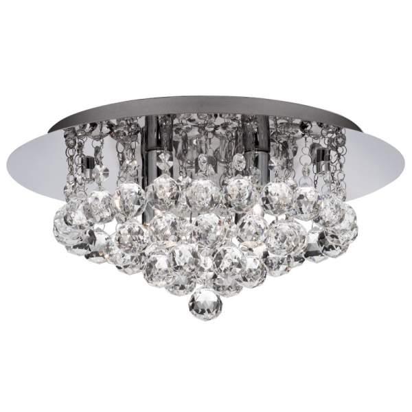 Searchlight Hanna 3404-4cc Crystal Chrome Flush ceiling light