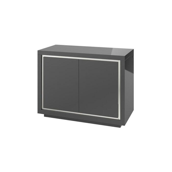 Sardinia Grey 2 Door High Gloss Sideboard With LED