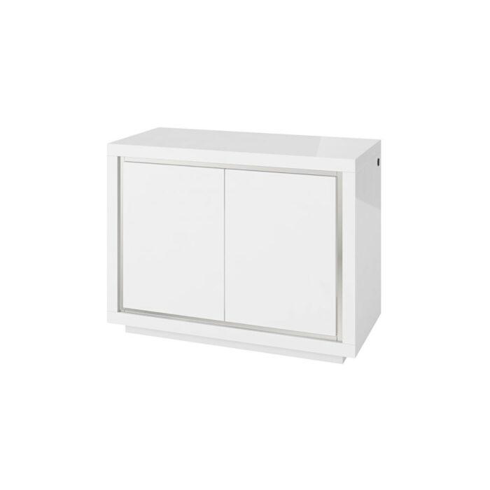 Sardinia White 2 Door High Gloss Sideboard With LED