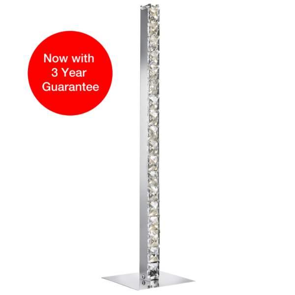 Searchlight Chrome Crystal LED Table Lamp 7023cc