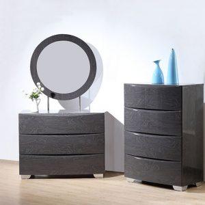 Venus Grey High Gloss Dresser Mirror 2