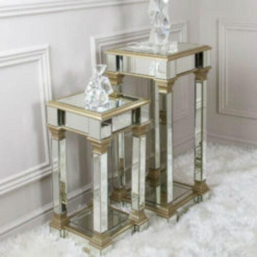 Apollo Champagne 71 cm Mirror Telephone Table
