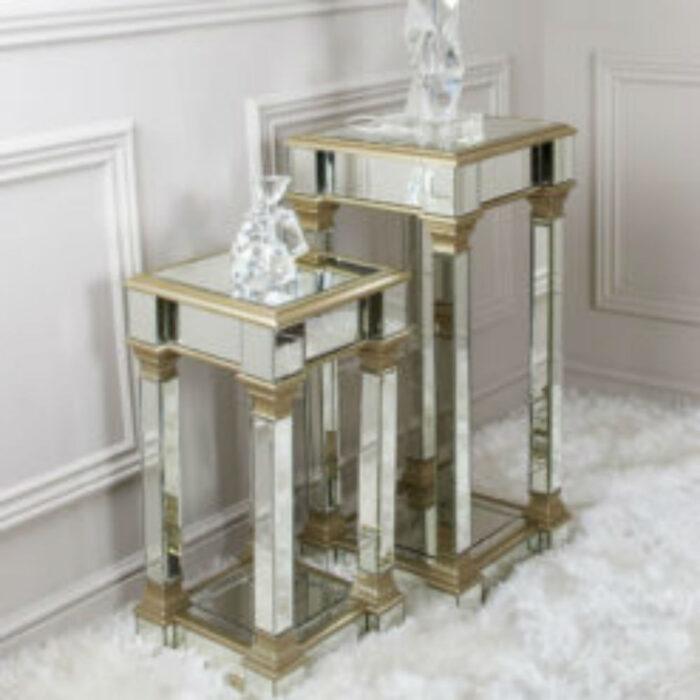 Apollo Champagne 90 cm Mirror Telephone Table