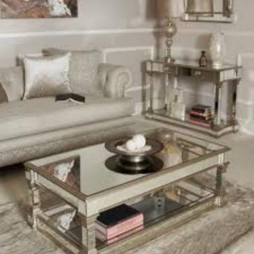 Apollo Champagne Mirror Coffee Table