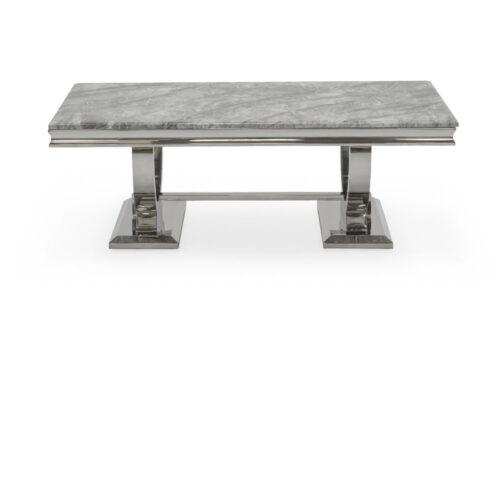 Arianna Grey Marble Chrome Legs Coffee Table
