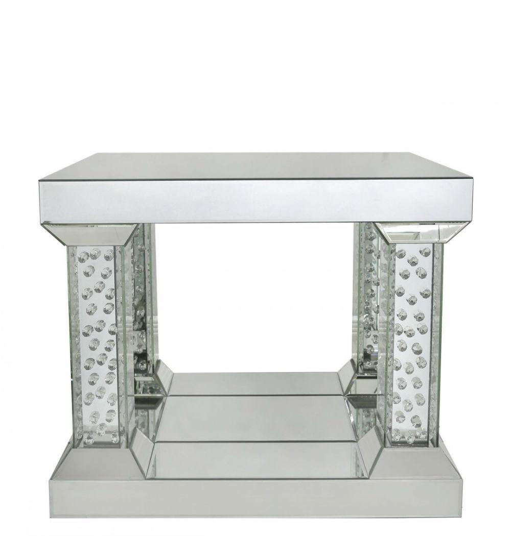 Astoria Mirror End Table With 4 Pillar