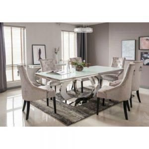 Athena White Dining Table 220 cm
