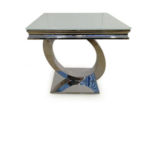 Athena White Lamp Table