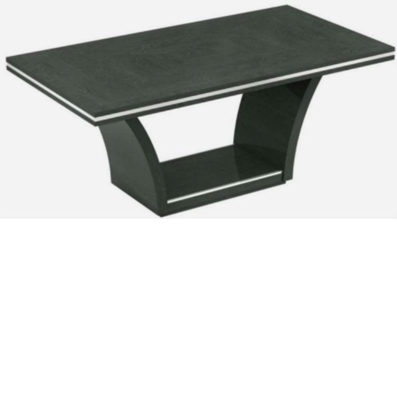 Ava Grey High Gloss Table 180cm chrome trim