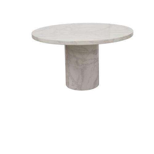 Carra Bone White Marble Round Coffee Table - 800