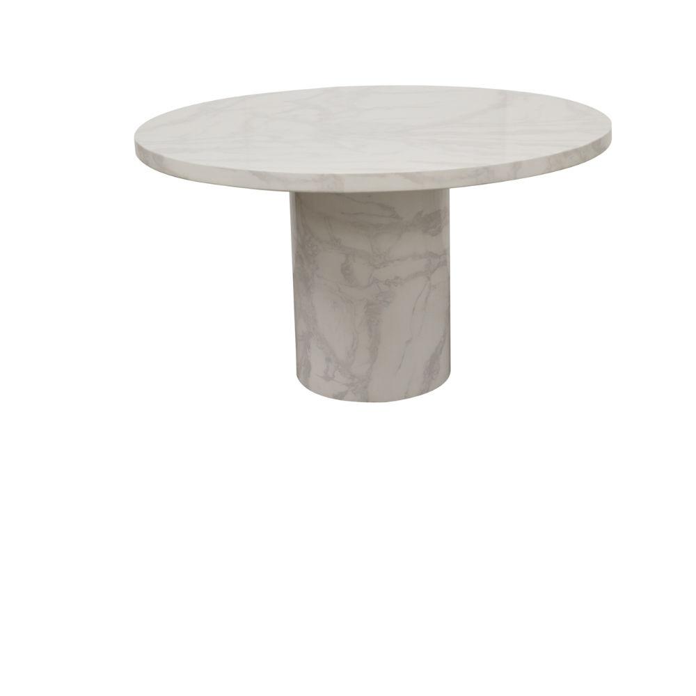 Vida Living Carra Bone White Marble Round Dining Table - 1300