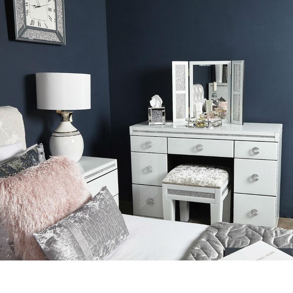 online store 87050 b4589 Cleo White Dressing table Vanity Mirror