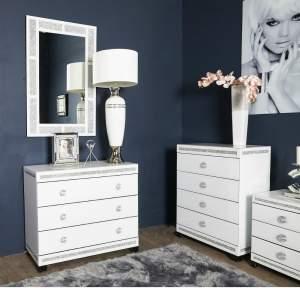 Cleo White Wall Mirror