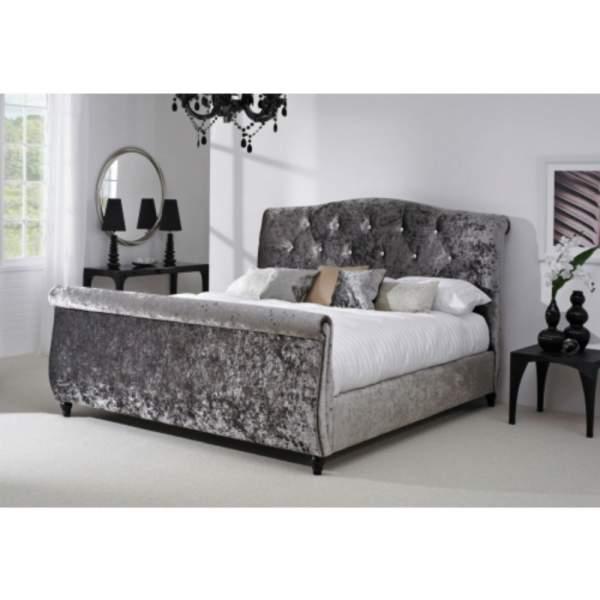Crystal Crushed Velvet Bed