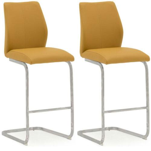 Elis Pumpkin Bar Chair Chrome Leg - Pair