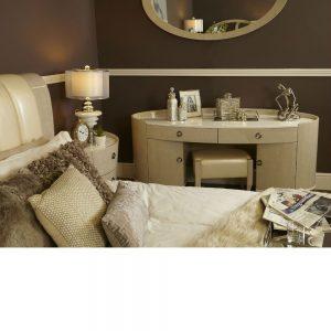 Ava light ivory 2 Drawer 2 Door Dressing Table