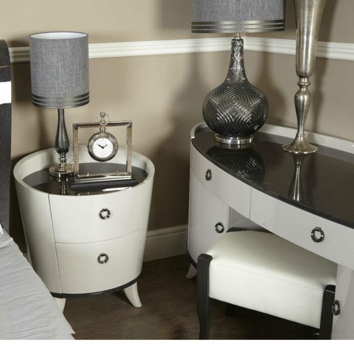 Ava Dark Grey faux leather stool