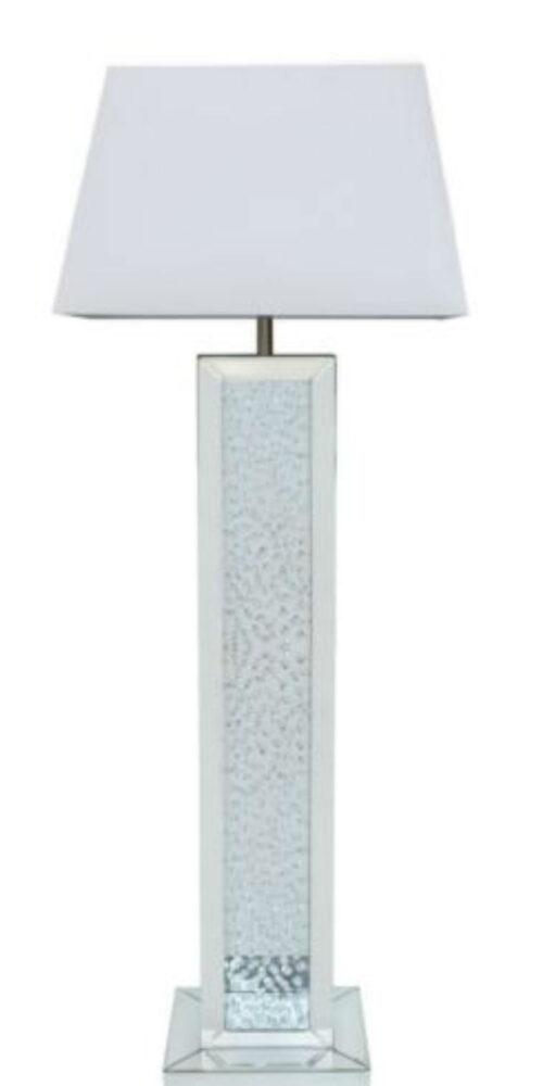 Floating Crystal Mirror Rectangular Floor Lamp