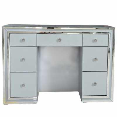 Harper Grey Glass Mirrored 7 Drawer Dressing Table
