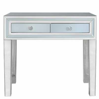 Harper Grey Glass Mirrored Console Table