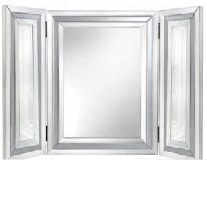 Harper Grey Glass Mirrored Vanity Mirror