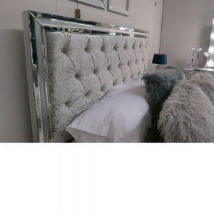 Harper White Mirror King Size Bed Frame