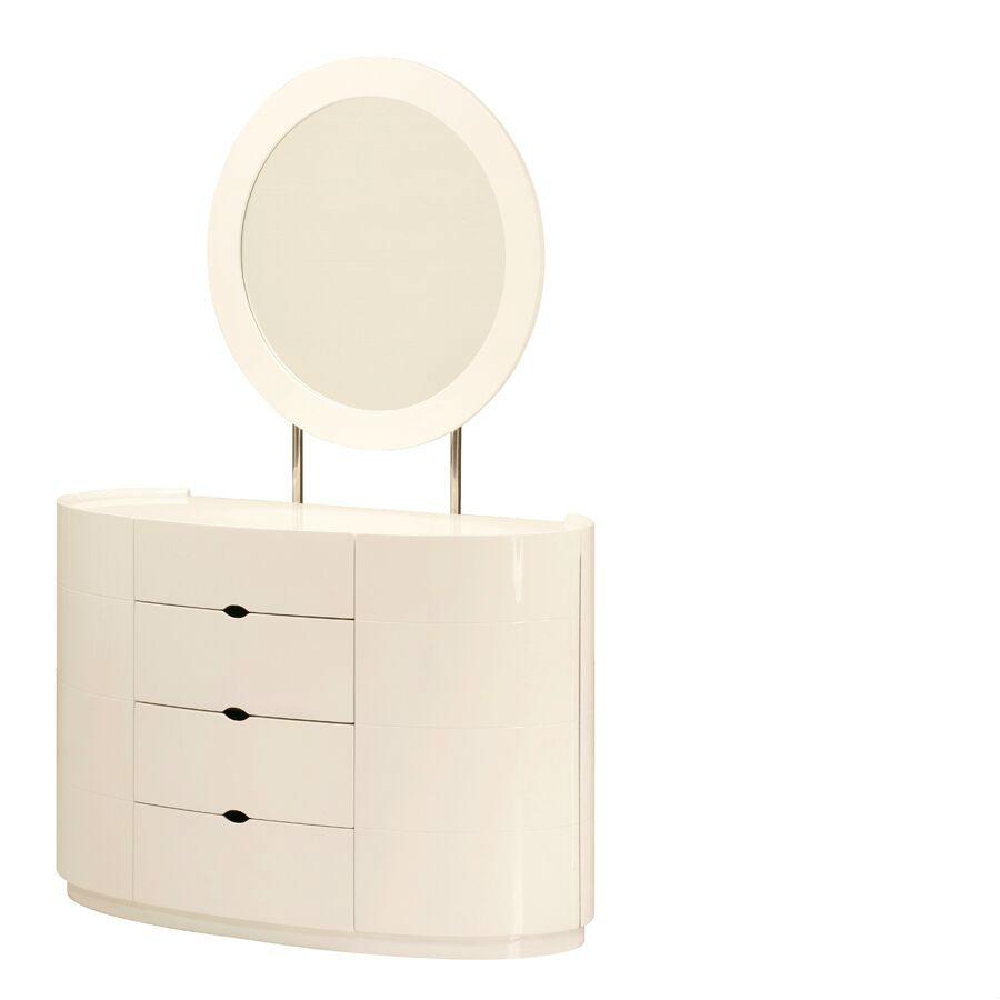 Holly White High Gloss Four Drawer Dresser