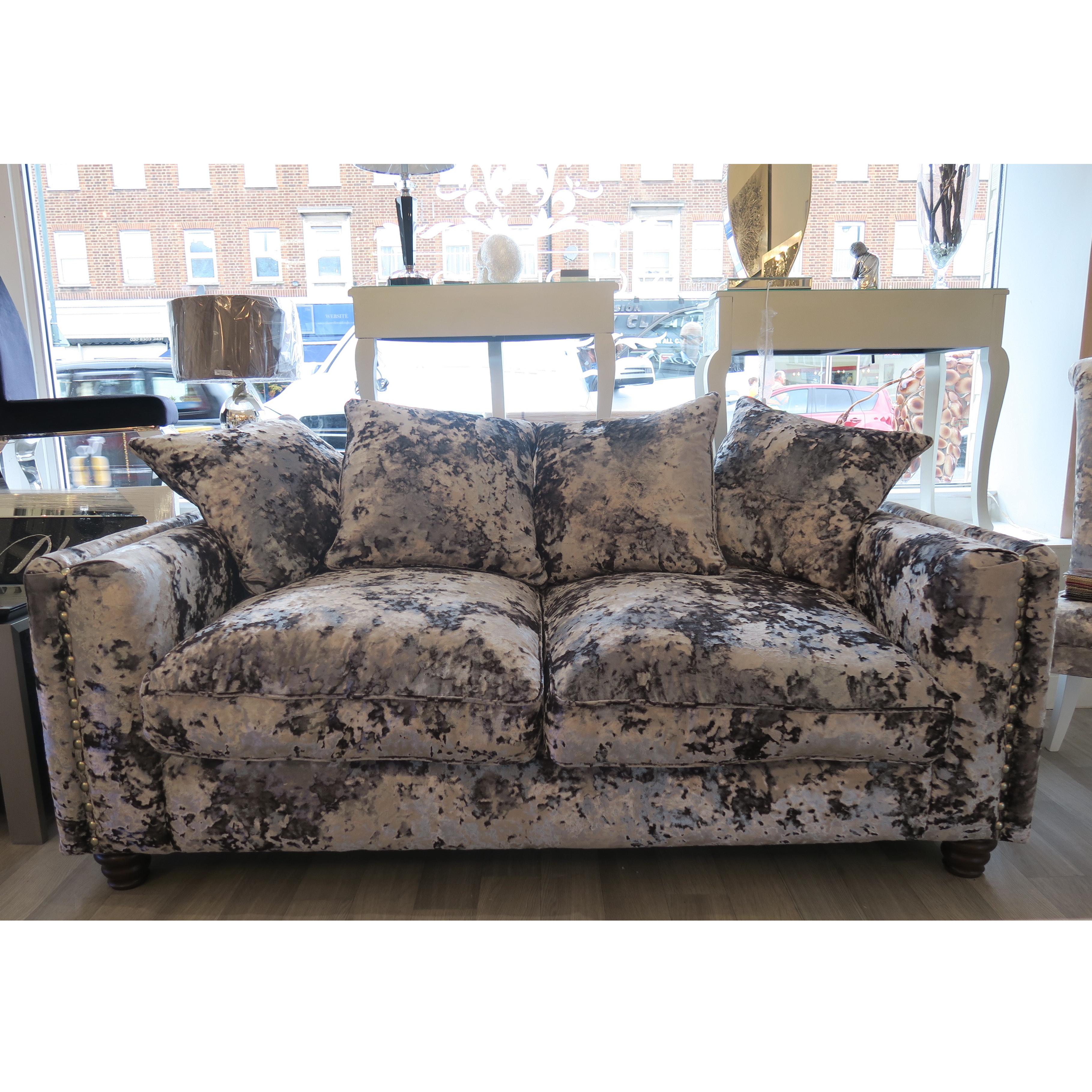 Mayfair Crushed Velvet 2 Seater Sofa