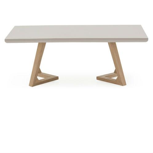 Jenoah Contemporary Ultra Gloss Oak Leg Coffee Table
