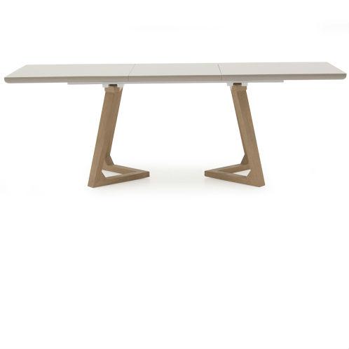 Jenoah Contemporary Ultra Gloss Oak Leg Dining Table 1600 2200