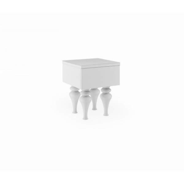 Laurent White Gloss Side Table