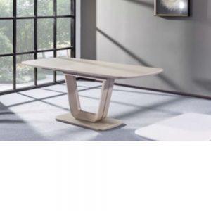 Vida Living Lazzaro Light Grey Matt Extending Dining Table - 1600/2000