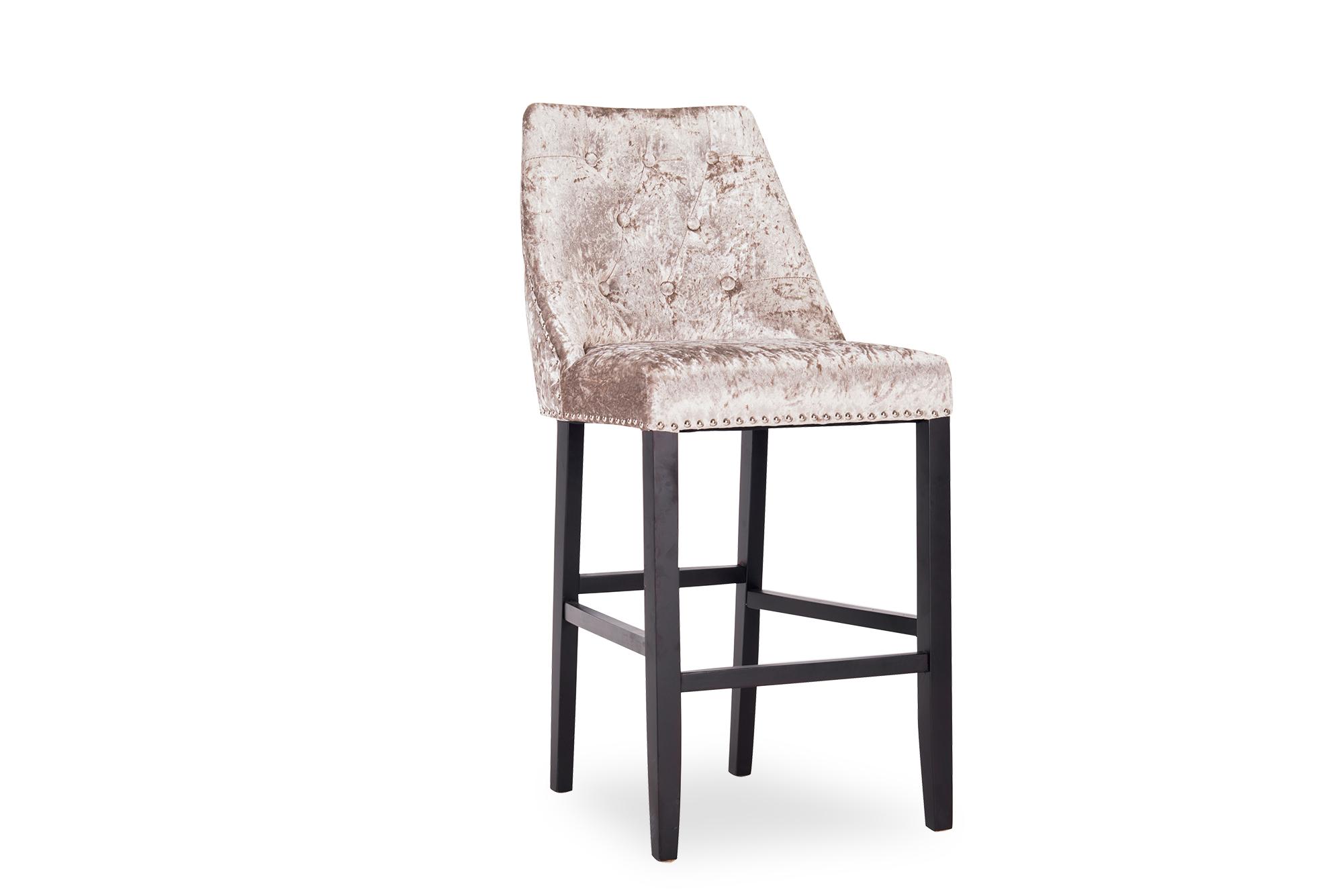 Lovell Bar Chair Knockerback Crushed Velvet Mink
