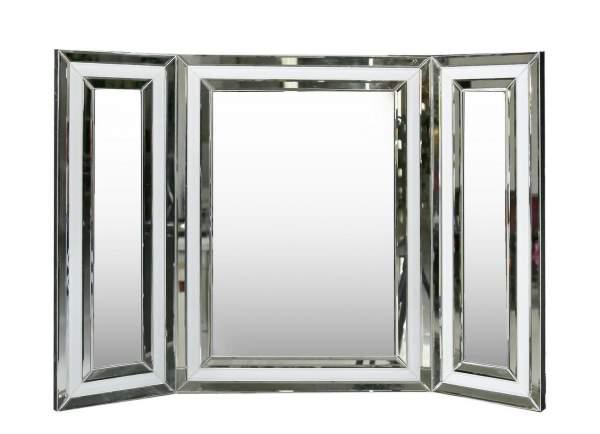 Manhattan White Vanity Mirror White Clear