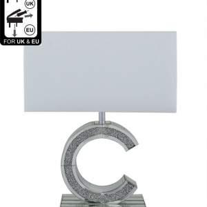 Milano Mirror 'C' Small Premium Table Lamp