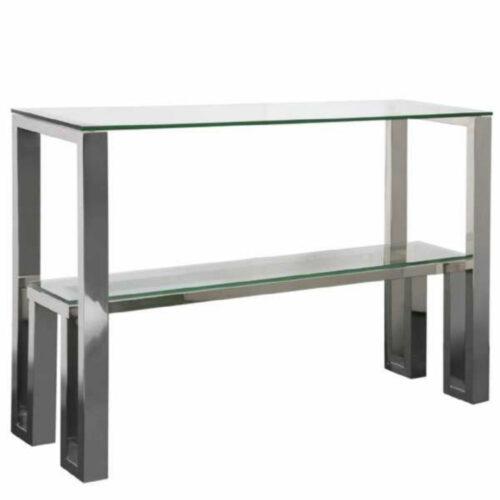 Camilla Chrome Console Table