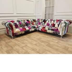 Chloe PatchWork Design Corner Sofa