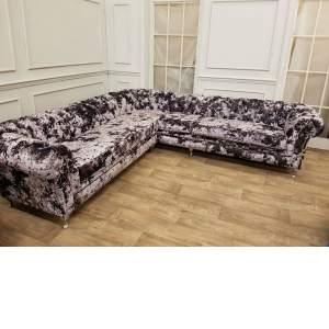 Larissa Crushed Velvet Corner Sofa