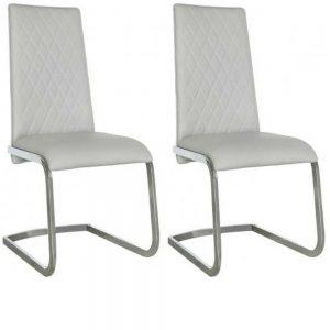 Sahara Light Grey Chrome Dining Chair