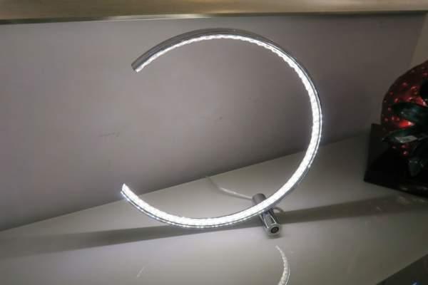 Silver Chrome LED Ring Lamp Searchlight 3122CC