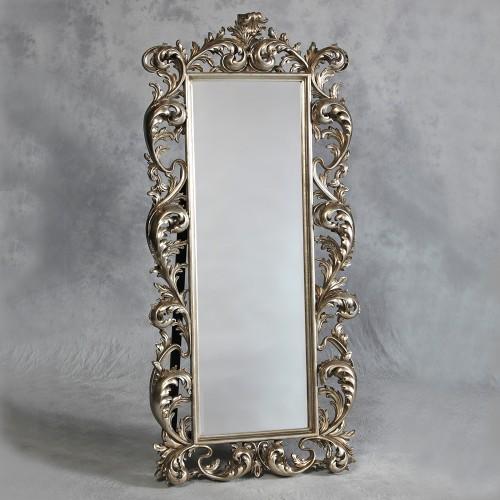 Antique Silver Cheval Dressing Mirror