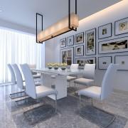 Soho white Glass Dining Table
