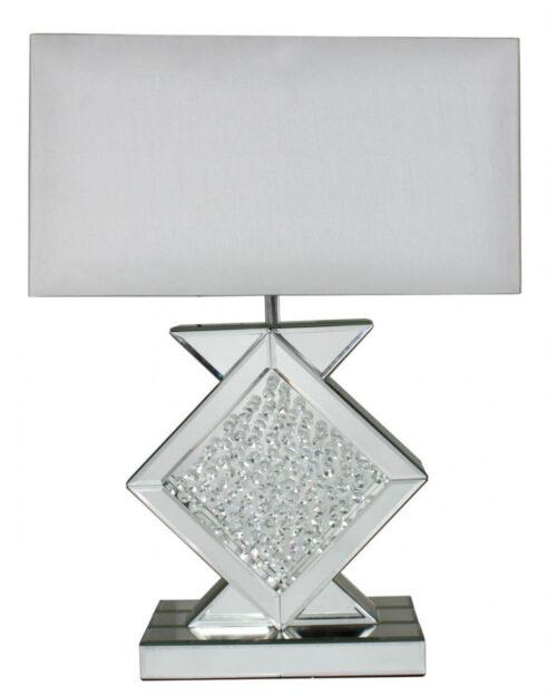 The Floating Crystal Mirror Medium Diamond Shape Table Lamp