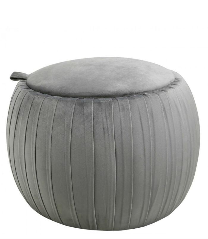 Value Grey Round Storage Stool