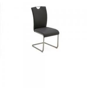 Vida Living Lazzaro Taupe Dining Chair Chrome Handle - Pair