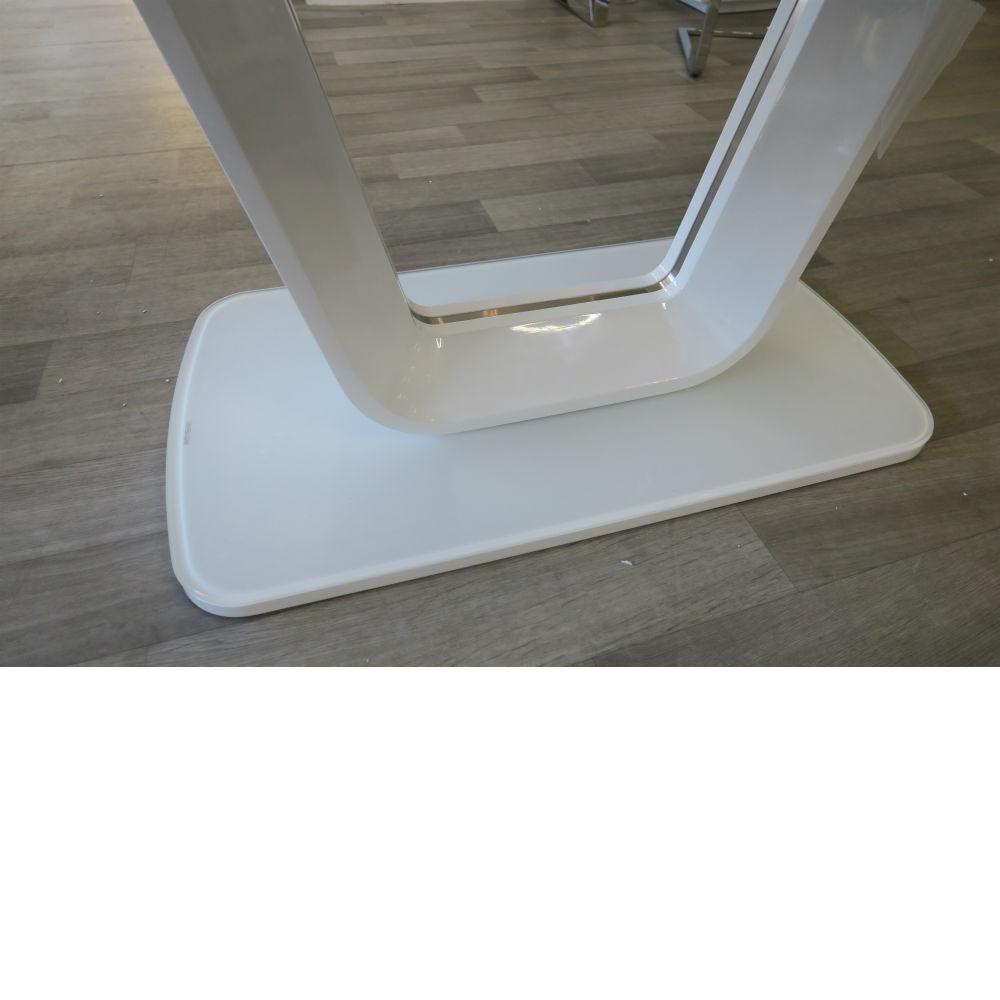 Vida Living Lazzaro White Gloss Extending Dining Table - 1600/2000