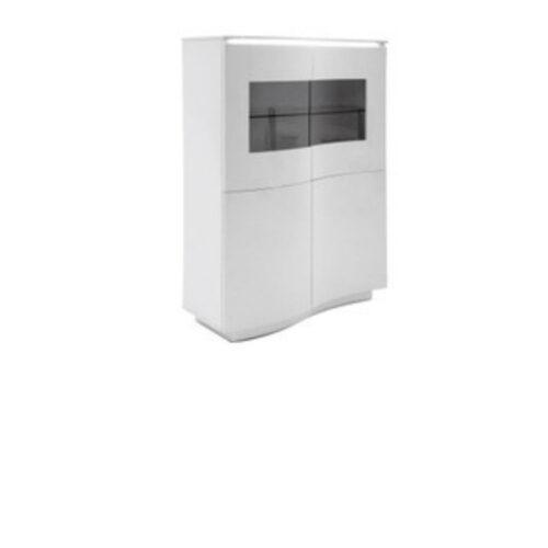 Vida Living Lazzaro White Gloss with LED Display Unit