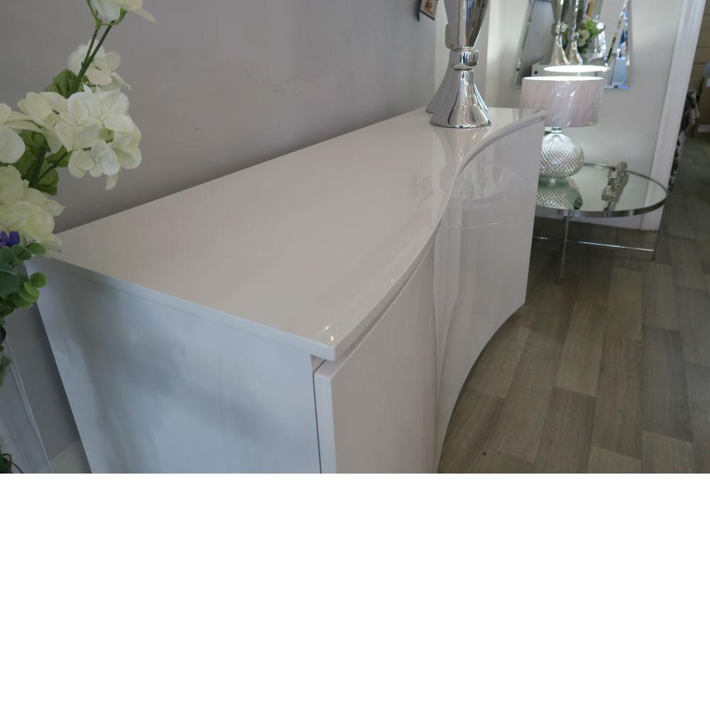 Vida Living Lazzaro White Gloss with LED Sideboard